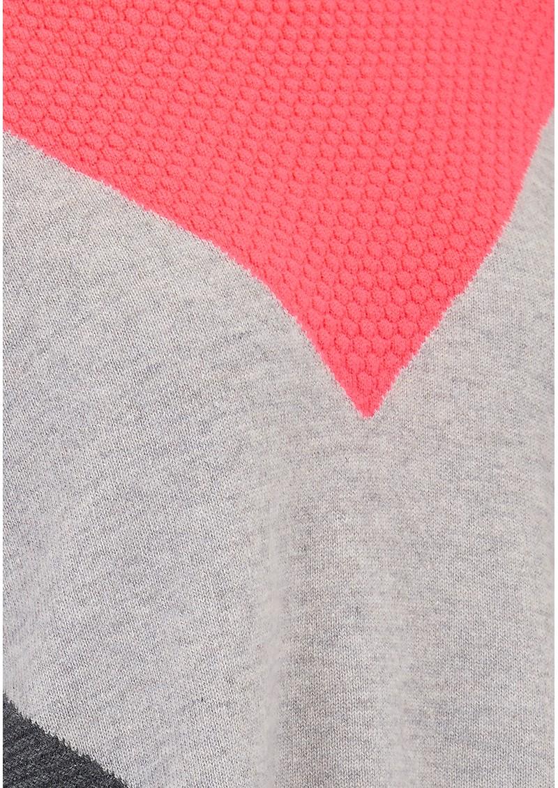 COCOA CASHMERE Texture Chevron Cashmere Jumper - Ash, Grey & Bowie main image