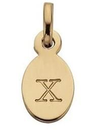 KIRSTIN ASH Bespoke Alphabet 'X' Charm - Gold