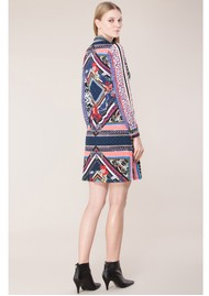 Hale Bob Ula Jersey Printed Dress - Blue