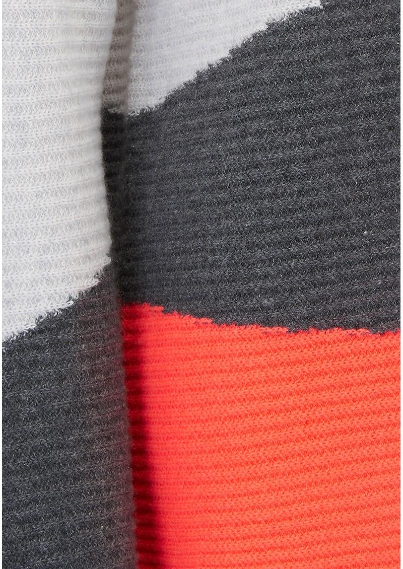 COCOA CASHMERE Asymmetric Stripe Cashmere Jumper - Cloud, Ash & Mexico main image
