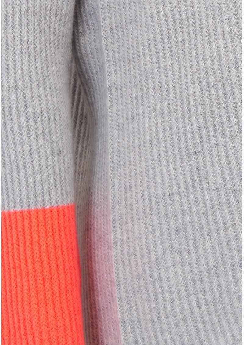 COCOA CASHMERE Colour Block Cowl Neck Cashmere Jumper - Grey & Mexico main image