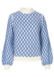 STINE GOYA Carlo Jumper - Blue
