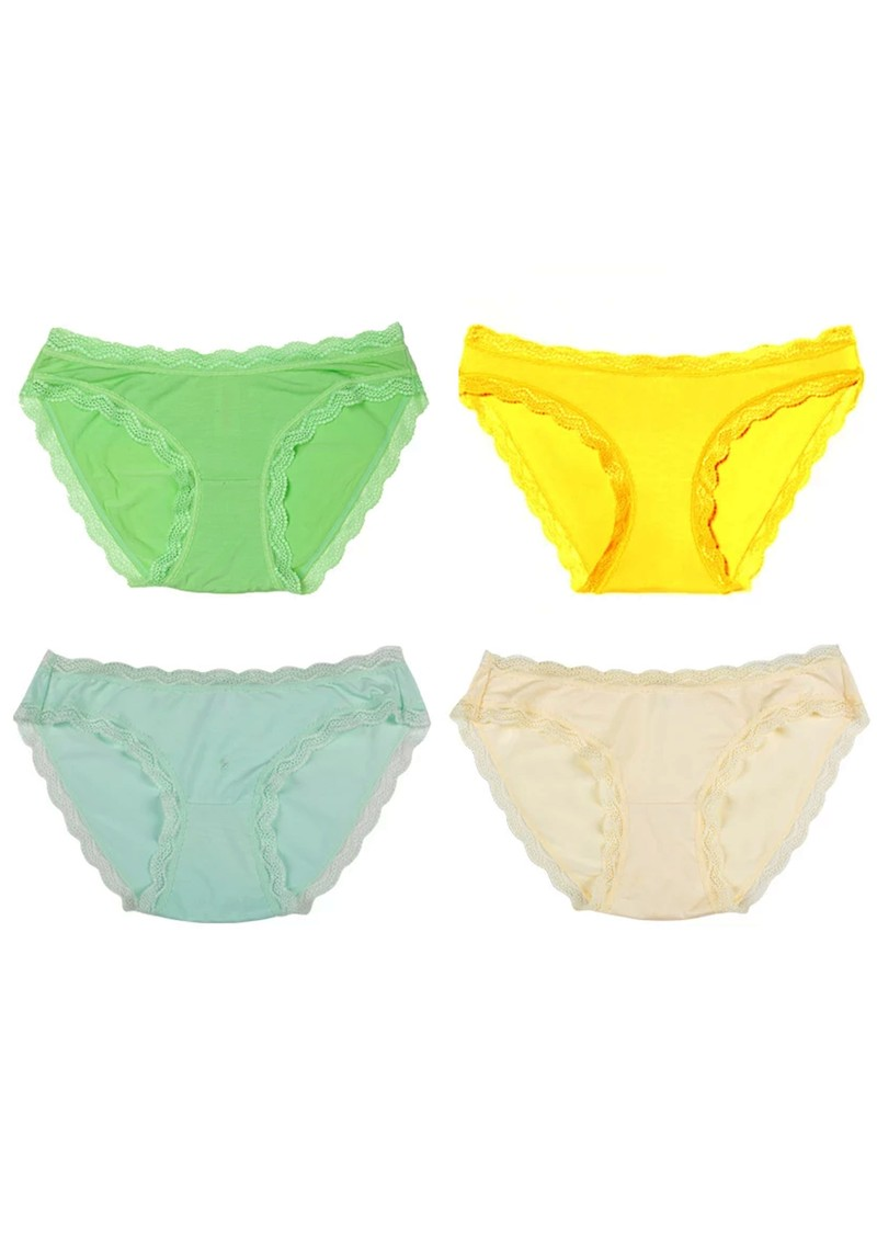 STRIPE & STARE Set of 4 Briefs - Pastels main image