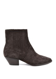 Ash Future Suede Ankle Boots - Wood Ash