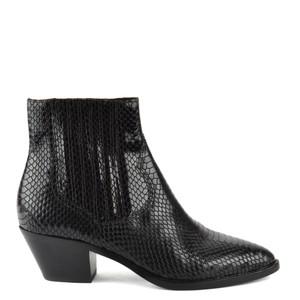 Floyd Bis Python Ankle Boot - Black