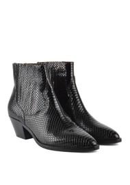 Ash Floyd Bis Python Ankle Boot - Black