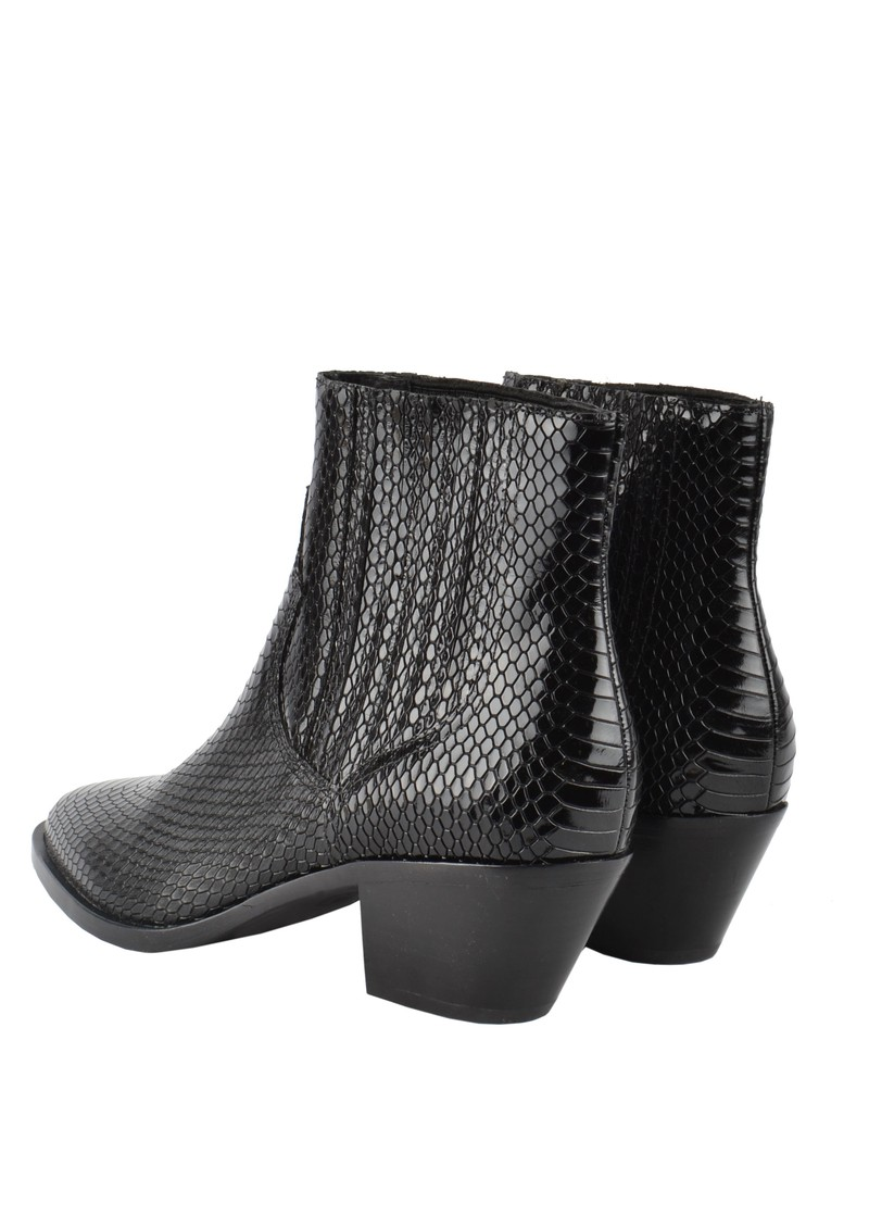 Floyd Bis Python Ankle Boot - Black main image