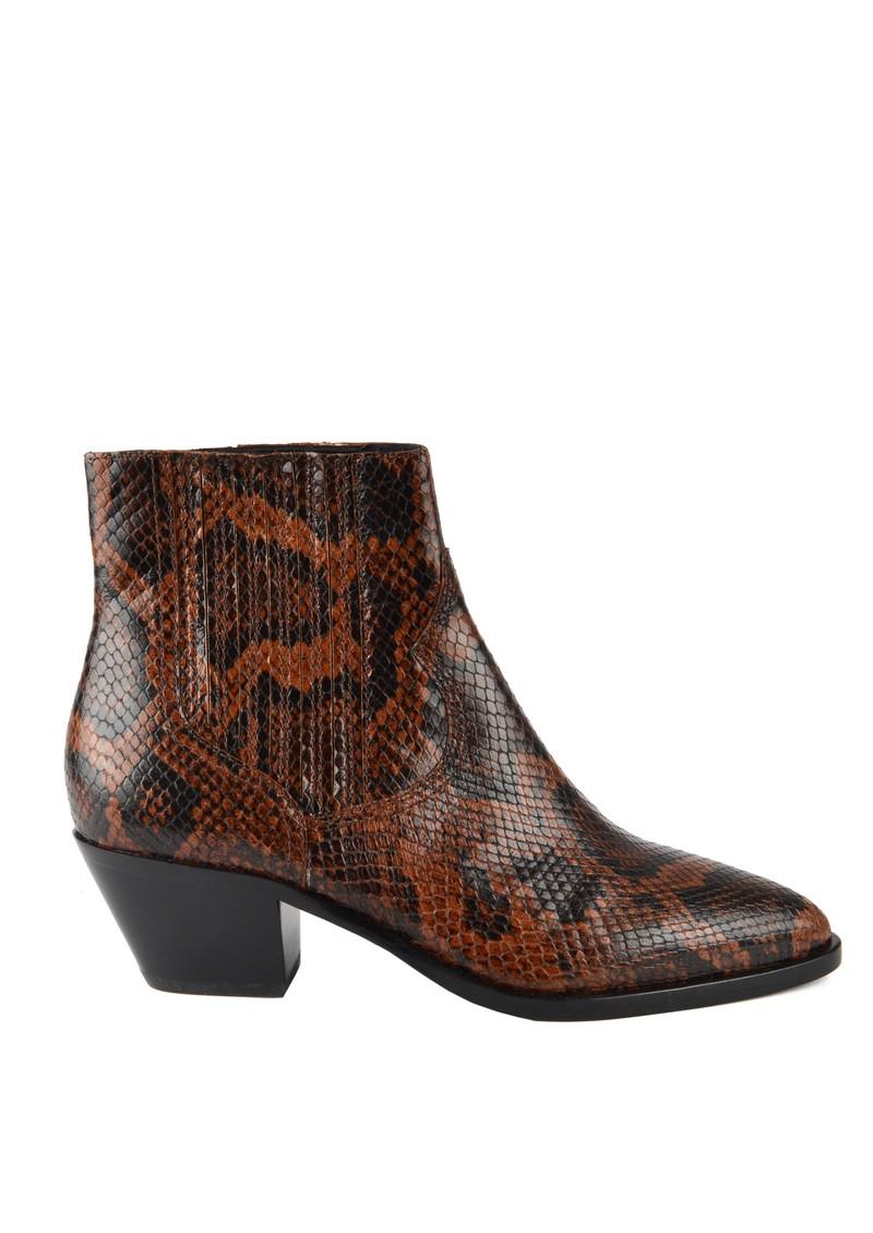 Ash Floyd Bis Python Ankle Boot - Cognac main image
