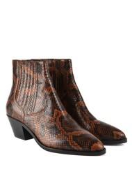 Ash Floyd Bis Python Ankle Boot - Cognac