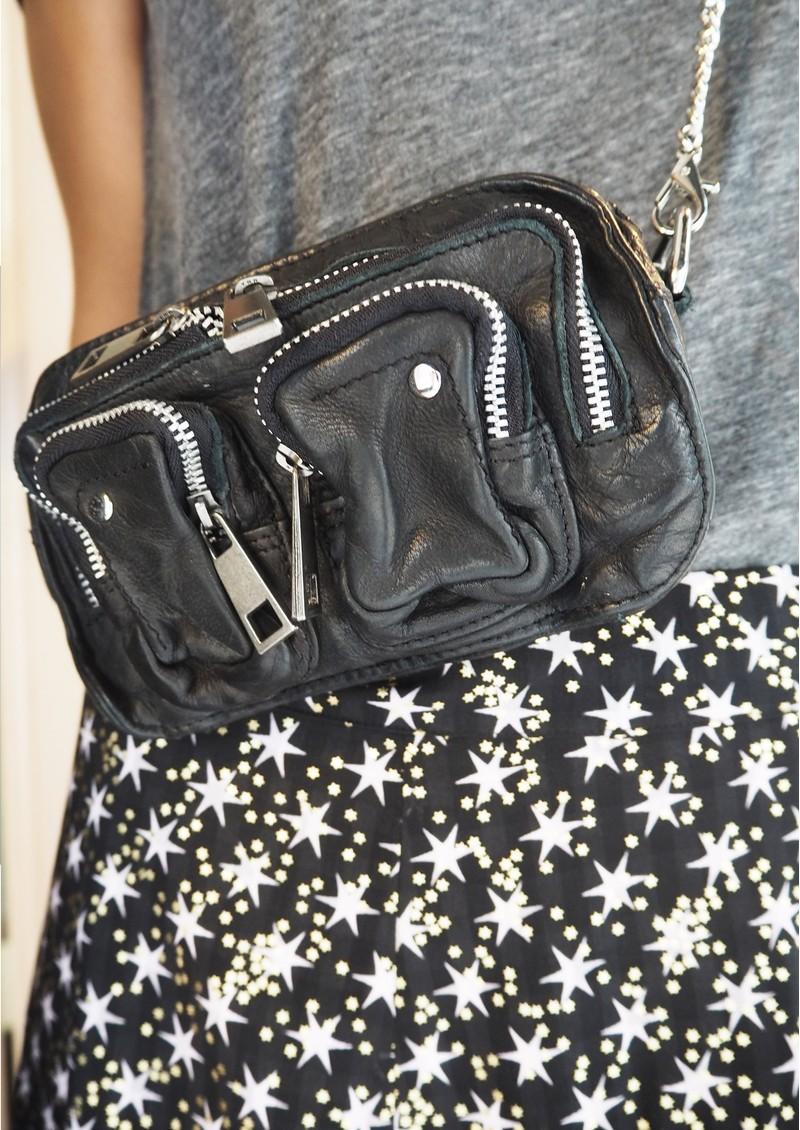 NUNOO Helena Washed Leather Bag - Black main image