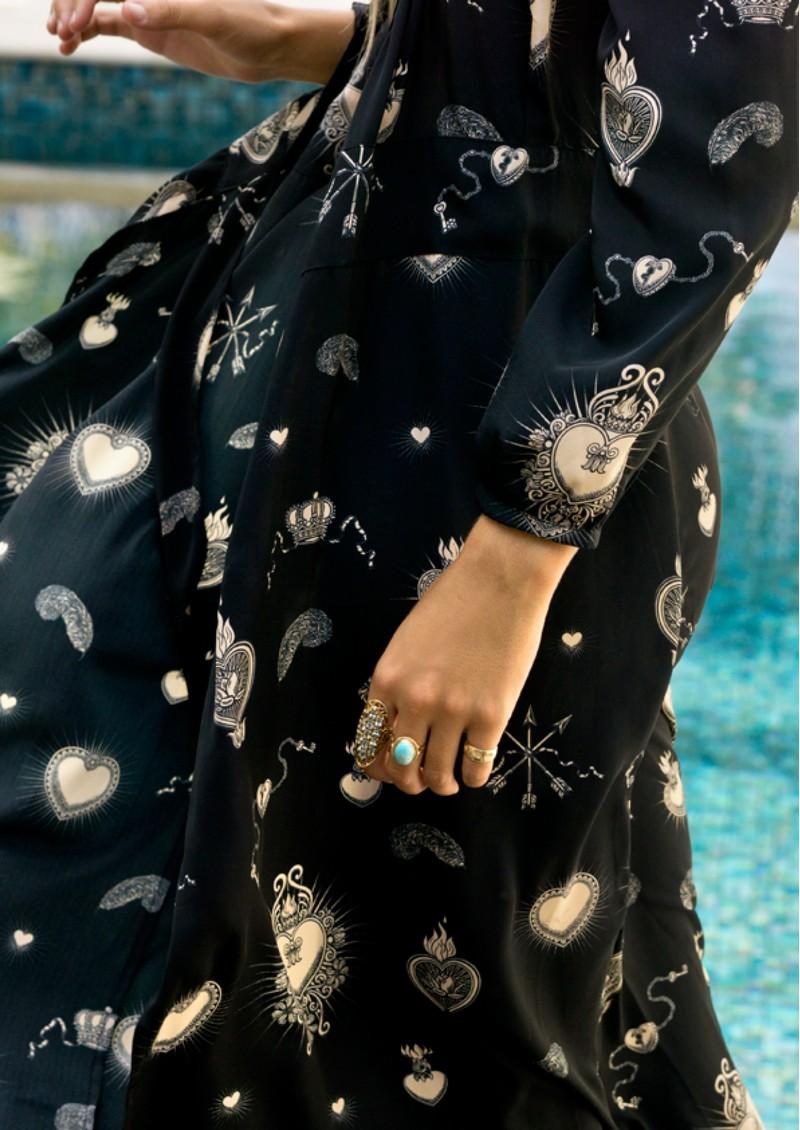 STARDUST Vivian Heart Dress - Black & Nude main image
