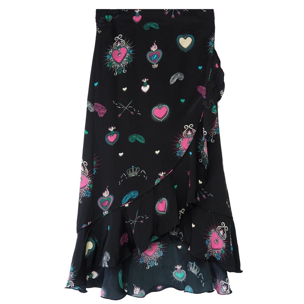 Mila Wrap Skirt - Black Multi