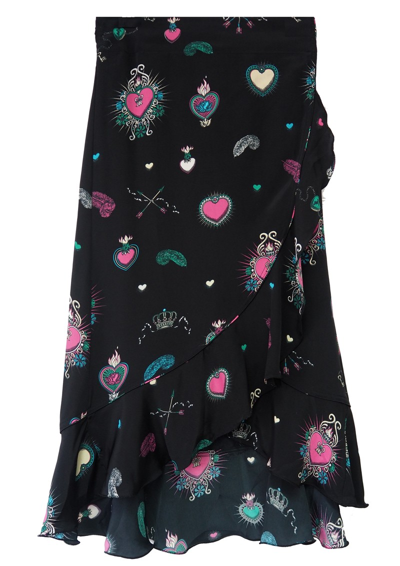 STARDUST Mila Wrap Skirt - Black Multi main image