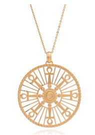 RACHEL JACKSON Key Of Life Medallion Necklace - Gold