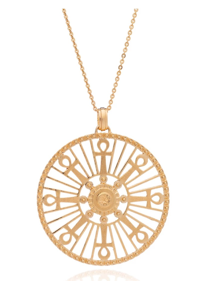 RACHEL JACKSON Key Of Life Medallion Necklace - Gold main image