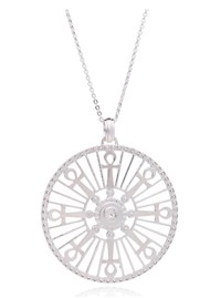RACHEL JACKSON Key Of Life Medallion Necklace - Silver