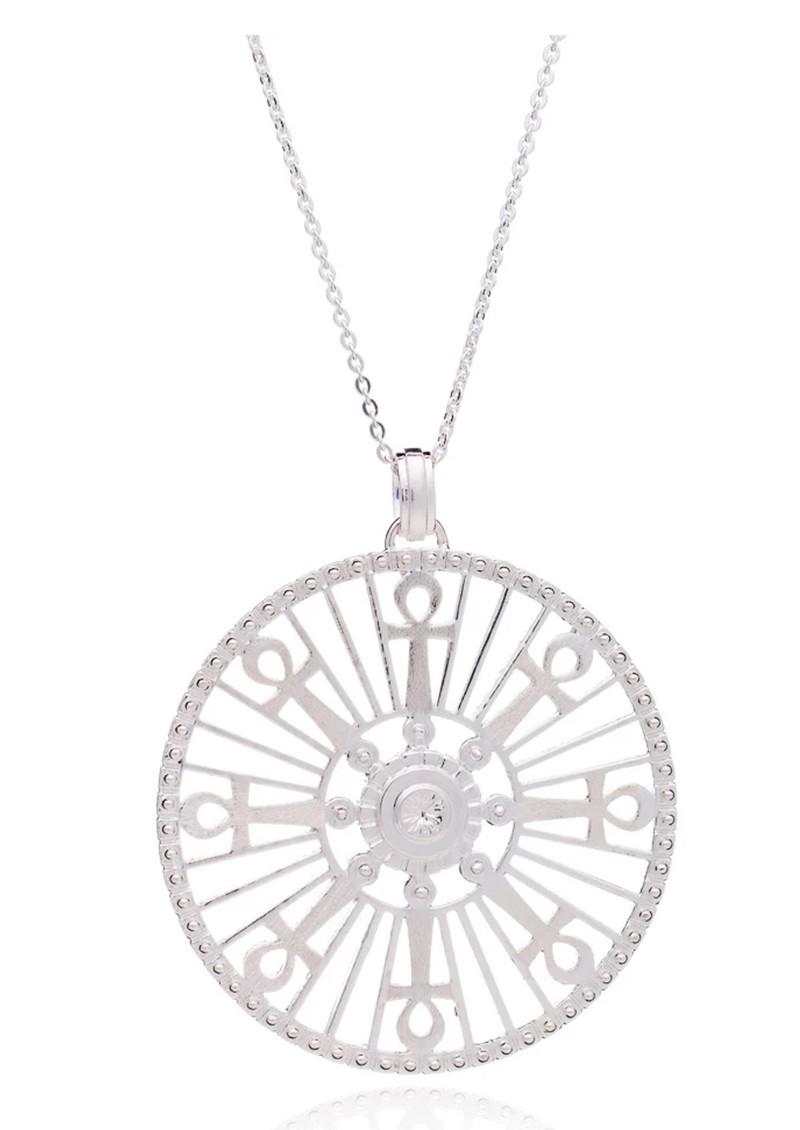 RACHEL JACKSON Key Of Life Medallion Necklace - Silver main image