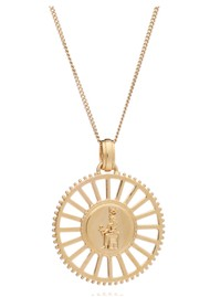 RACHEL JACKSON Queen of Revelry Medallion Necklace - Gold