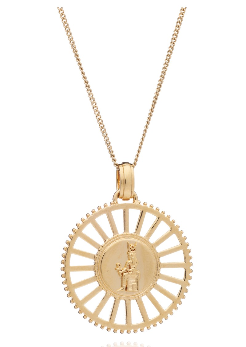 RACHEL JACKSON Queen of Revelry Medallion Necklace - Gold main image