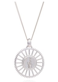 RACHEL JACKSON Queen of Revelry Medallion Necklace - Silver
