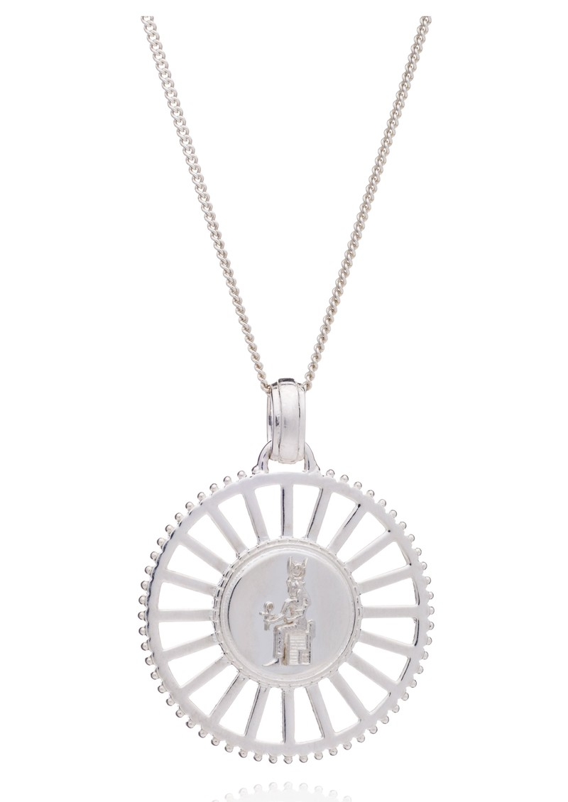 RACHEL JACKSON Queen of Revelry Medallion Necklace - Silver main image