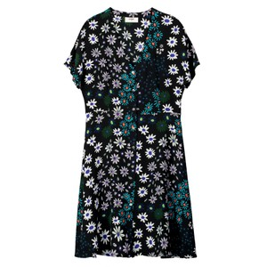 Francine Silk Dress - Crazy Daisy
