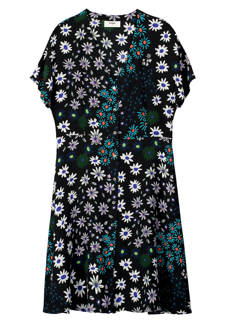 Pyrus Francine Silk Dress - Crazy Daisy main image