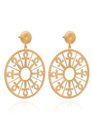 RACHEL JACKSON Key of Life Medallion Earrings - Gold