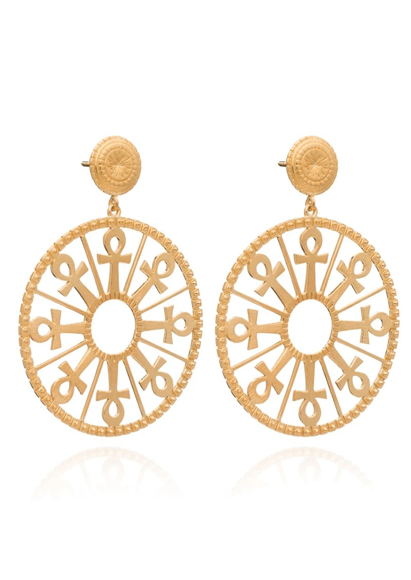 RACHEL JACKSON Key of Life Medallion Earrings - Gold main image