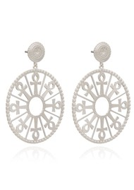 RACHEL JACKSON Key of Life Medallion Earrings - Silver
