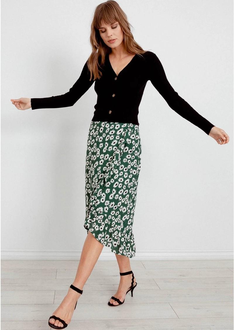 Rails Nova Skirt - Green Daisies main image