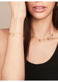 RACHEL JACKSON Eternal Sun Coin Bracelet - Gold