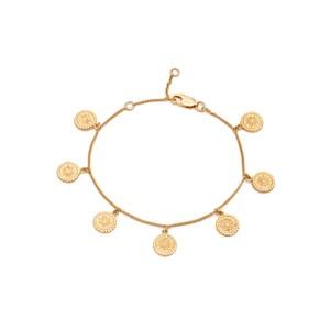 Eternal Sun Coin Bracelet - Gold
