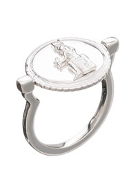 RACHEL JACKSON Queen of Revelry Coin Ring - Silver