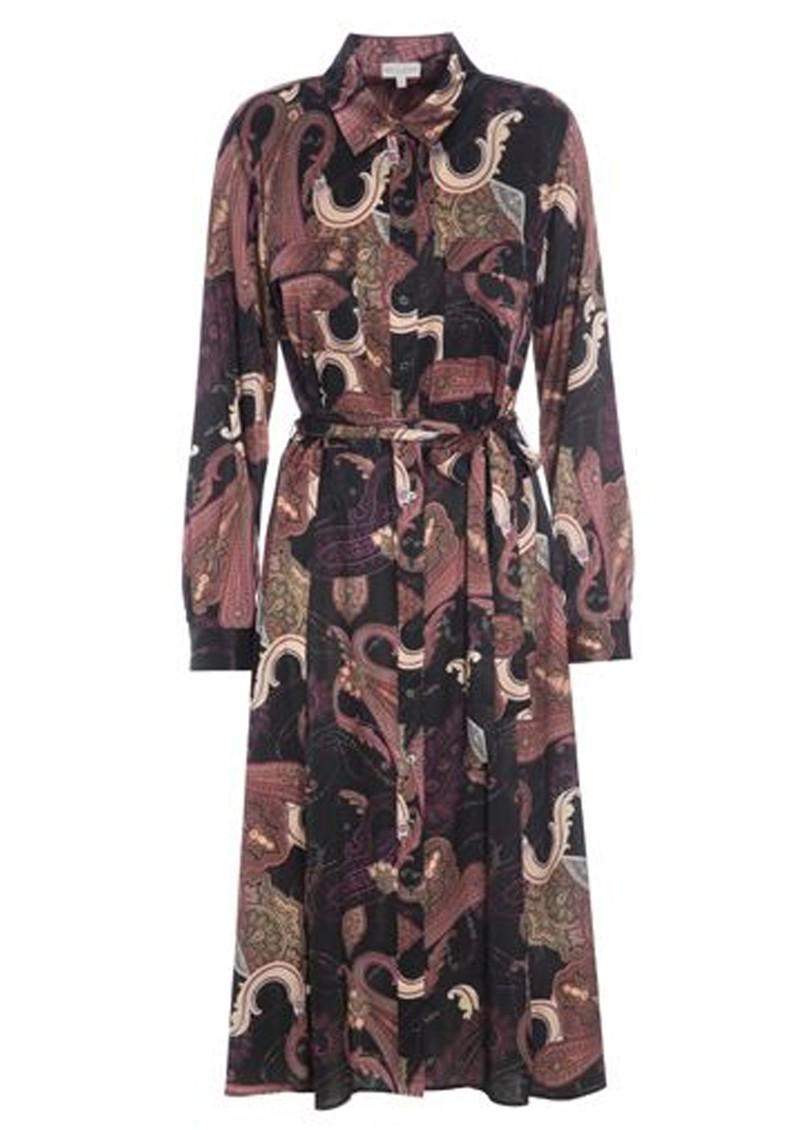DEA KUDIBAL Estelle Silk Shirt Dress - Paisley Coral main image