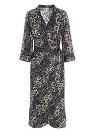 DEA KUDIBAL Wilma Wrap Dress - Leopard