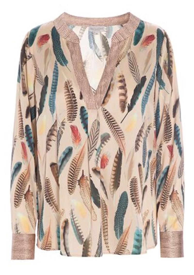 DEA KUDIBAL Santena Exclusive Silk Tunic - Feather Rose main image