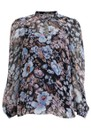 Mertrice Top - Blue Floral additional image