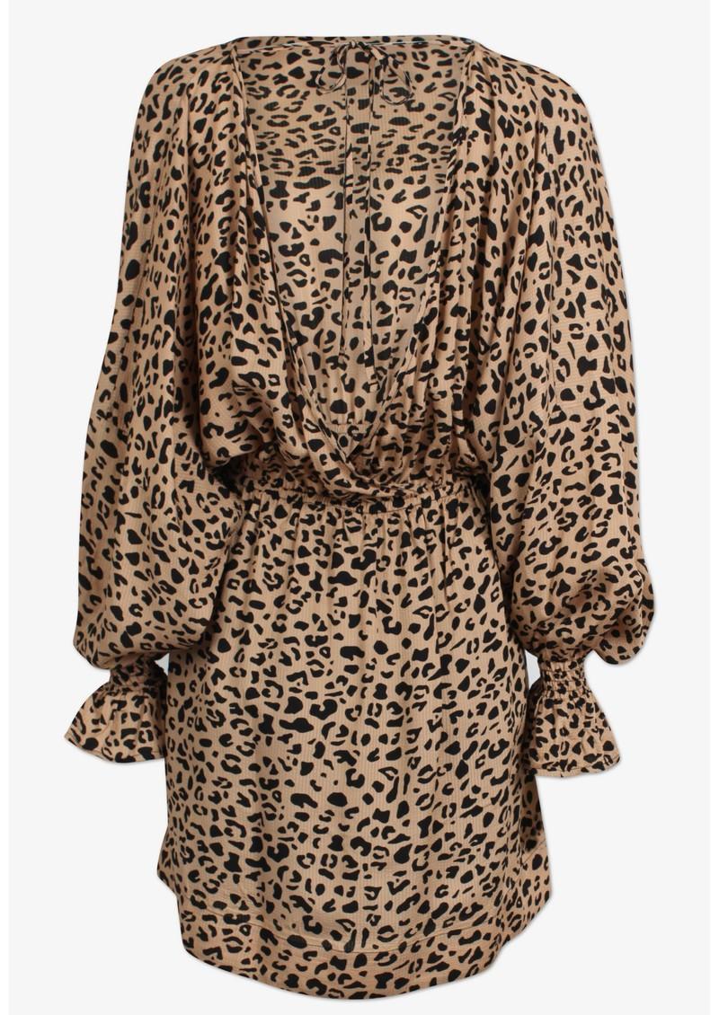 BAUM UND PFERDGARTEN Aemiley Printed Dress - Beige Black Leo main image