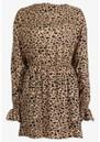 BAUM UND PFERDGARTEN Aemiley Printed Dress - Beige Black Leo