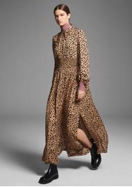 BAUM UND PFERDGARTEN Amber Maxi Dress - Beige Black Leo