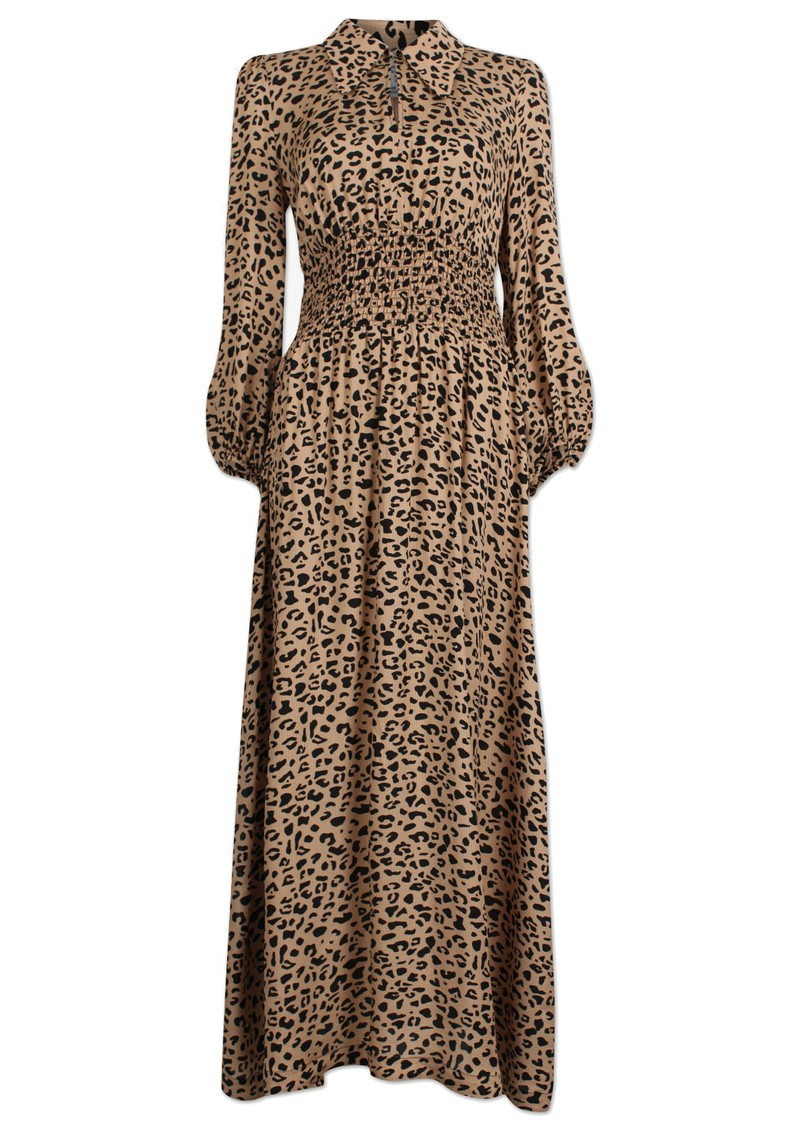 Amber Maxi Dress - Beige Black Leo main image