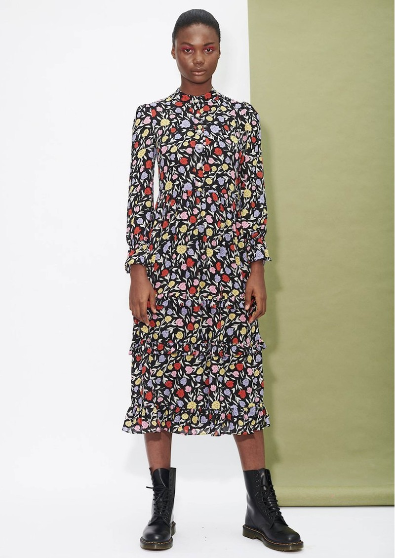 OLIVIA RUBIN Florence Silk Dress - Floral main image
