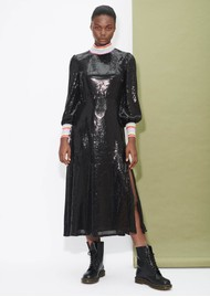 OLIVIA RUBIN Amelie Sequin Dress - Black