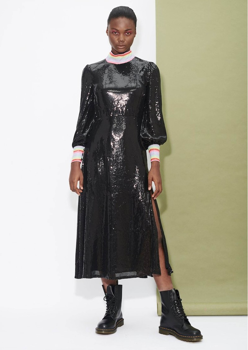 Amelie Sequin Dress - Black main image