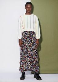 OLIVIA RUBIN Jessica Silk Skirt - Floral
