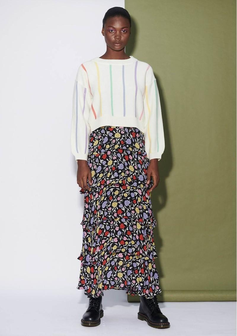 OLIVIA RUBIN Jessica Silk Skirt - Floral main image
