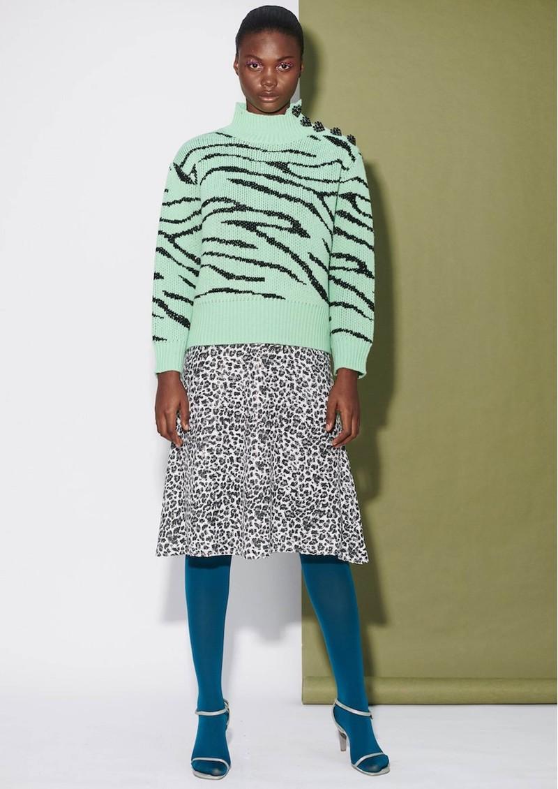 OLIVIA RUBIN Lyla Jumper - Mint Zebra main image
