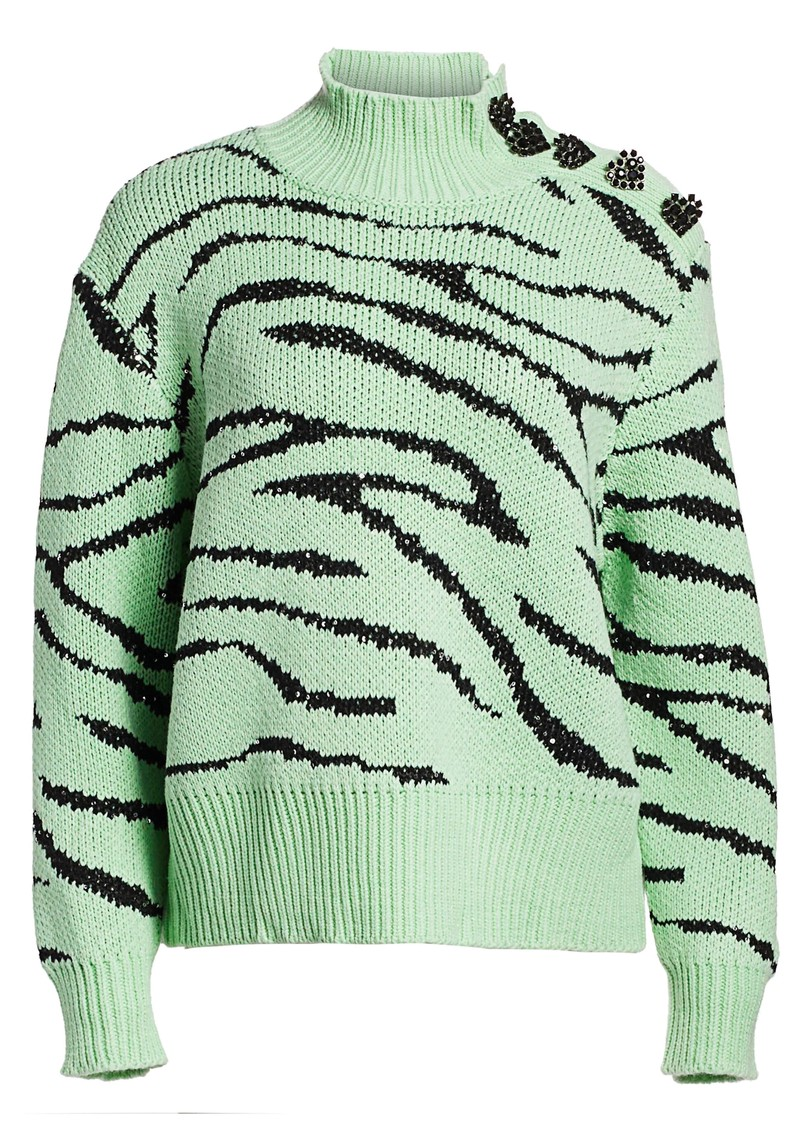 Lyla Jumper - Mint Zebra main image