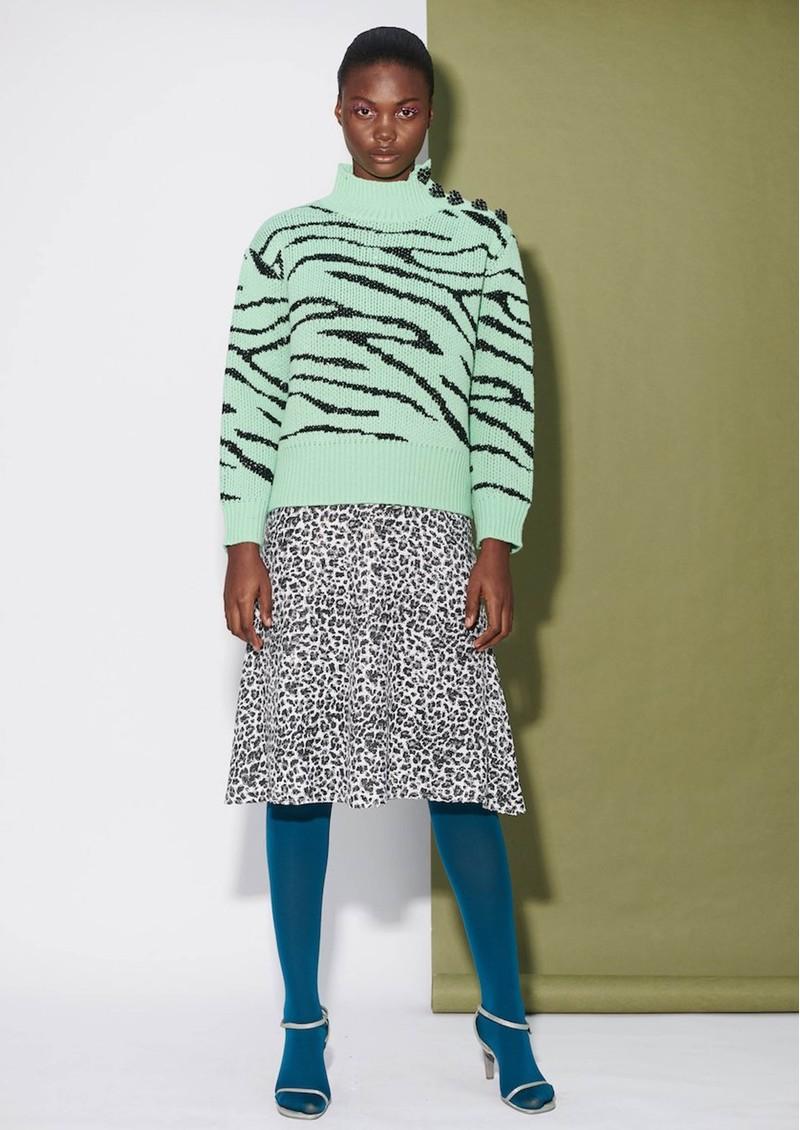 OLIVIA RUBIN Jeanie Sequin Skirt - Mono Leopard main image